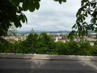 Ljubljana Stadt vom Burgberg aus gesehen