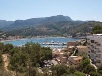 Die feine Aussicht vom Hotel Porto Soller...