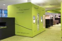Schlafkabinen an der neu eröffneten Recreation Area des Münchener Flughafens