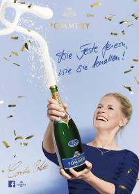 POMMERY Anzeige mit Cornelia Poletto / Bildquelle: POMMERY Champagne