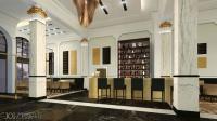 Reichshof Hamburg - Visualisierung Hotelhalle / © JOI Design