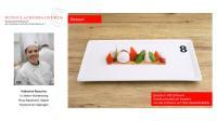 Basilikum trifft Erdbeere: Basilikumsorbet mit Variation von der Erdbeere auf Chiasamen-Tartelette / Bildquelle: Rudolf Achenbach GmbH & Co. KG