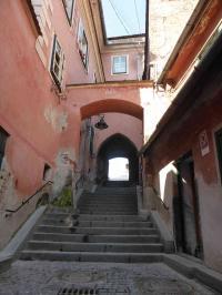 Malerisches Bild in den Gassen der Altsatdtvon Hermannstadt/Sibiu/Rumänien