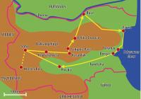 Karte zur Balkan Rundreise Bulgarien