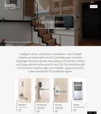 Unter www.saltohospitality.de finden Hoteliers passende Antworten auf ihre Fragen zu elektronischen Hotelschließsystemen. / Bildquelle: SALTO Systems