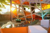 Blick von der Schöfferhofer Lounge auf die Frankfurter Skyline / Bildquelle: Prime Connection