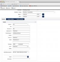 Screenshot vom B2B Webinterface für den Parkservice