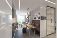 Livingroom des Apartment der Zukunft  / © Design & Rendering by JOI-Design (Rendering)