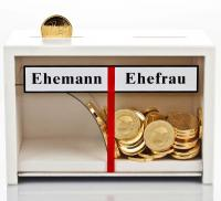 Lustige Geschenkeidee: Spardose für Eheleute