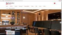 Großformatige Inspirationen auf der neuen Schnieder Homepage / Bildquelle: Stuhlfabrik Schnieder GmbH