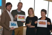 Andreas Bender, Martin Wenzel, Linda Perthen, Gerlinde Creutzburg (vlnr), Rechte THE GRAND Ahrenshoop