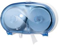 Der Tork Doppelrollenspender für hülsenloses Midi Toilettenpapier überzeugt, wie alle Produkte der Tork Wave Linie, durch Zuverlässigkeit und Robustheit / Bildquelle: Tork