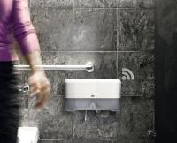 Tork EasyCube™ ermöglicht eine bedarfsgerechte Reinigung von Waschräumen — je nach Nutzeraufkommen und —verhalten / Bildquelle: Tork