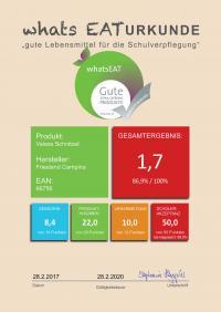 Urkunde von whatsEAT für Valess Schnitzel / Bildquelle: FrieslandCampina Foodservice / Valess