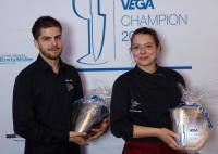 Gewannen die Stadtrallye beim Finale des großen Teamwettbewerbs VEGA Champion 2016: Oliver Adler und Nadine Zimmermann. / Bildquelle: VEGA GmbH