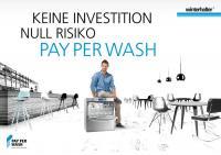 Keine Investition. Null Risiko ? PAY PER WASH / Bildquelle: Winterhalter Gastronom GmbH