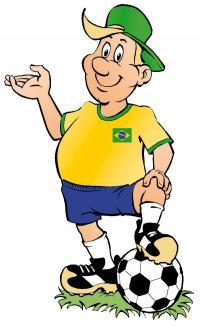 Wolli - die Fußballer Identifikatiionsfigur von EDNA zur WM 2014; alle Bilder EDNA