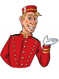 Der Bellboy als Comic Version von Hotelier.de!