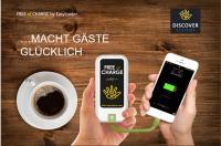 Free of Charge - das mobile Handy-Ladegerät für die HOGA / Bildquelle: Discover Systems GmbH