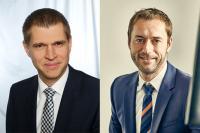 Links: Klaus Brack, neuer Geschäftsführer Winterhalter Deutschland GmbH; rechts: Thomas Pfeiffer, neuer Leiter Marketing & Vertrieb der Winterhalter Gruppe weltweit / Bildquelle:  Winterhalter Deutschland GmbH