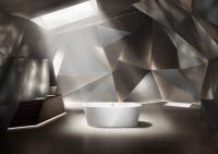 Die freistehende Badewanne Meisterstück Classic Duo Oval mit ihrer weichen, ovalen Kontur und der konischen Außenform vereint eine besonders ästhetische und elegante Formensprache / Bildquelle: Kaldewei