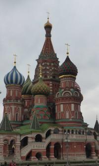 Die Basilius Kathedrale auf dem Roten Platz