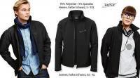 Schwarze Softshell Jacke für Damen und Herren von TAPEX