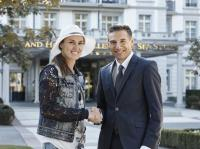 Martina Hingis und Patrick Vogler, CEO des Grand Resort Bad Ragaz / Bildquelle: Grand Resort Bad Ragaz