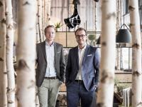 Geschäftsführer der HANS IM GLÜCK Franchise GmbH Jens Hallbauer und Johannes Bühler (v.l.) / Bildquelle: HANS IM GLÜCK Franchise GmbH