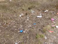 Müll am Geestberg, hier war's mal schön. Heute wird hier achtlos McDonalds Müll abgeworfen