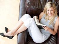 Ein schönes Hobby: Lesen im Hotel