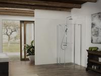 Gerade bei Duschen werden ebenerdige Einstiege und breite Türen immer beliebter. Doch die Anpassbarkeit der Kabine an aktuelle Trends und sich wandelnde Bedürfnisse steht und fällt mit der Flexibilität der Verankerung. / Bildquelle: Dusar B + W GmbH & Co.KG