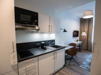 Jedes ÜberFluss Apartment ist mit einer Küchenzeile inklusive Zubehör ausgestattet