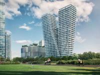 Der V Tower in Prag bietet exklusiven Lebens- und Wohnraum auf 30 Etagen: Eröffnet wurde der beeindruckende Bau Ende 2017. / Bildquelle: alle PSJ Invest