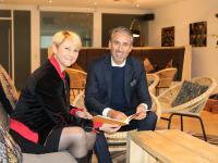 Dr. Yvonne Zimmermann, Vorstandsvorsitzende der ADG und Dr. Urban Uttenweiler, Vorstandsvorsitzender der HGK / Bildquelle: HGK