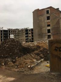 Die entkernten Gebäudeteile, ebenfalls Bauzustand Januar 2020; Bildquelle Hotelier.de