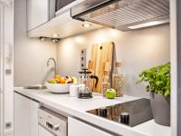 Musterzimmer Comfort-Doppelzimmer Küchenzeile