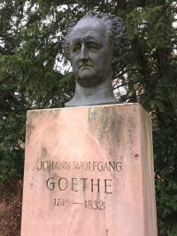 Ein Fan der Stadt Heidelberg: Goethe im Heidelberger Schlosspark
