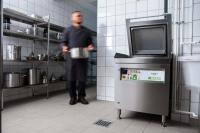 Frontansicht der Eingabestation von Meiko Green Waste Solutions