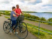 Radfahrer am Senftenberger See