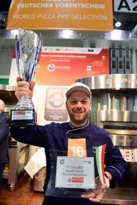 Gewinner zum Deutschen Vorentscheid der Pizza-WM: Pasquale Corvaglia; Bildquelle Hamburg Messe, Nicolas Maack