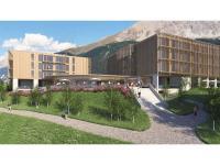 Außenansicht des neuen Mövenpick Resort Savognin / Bildquelle: © Panorama Development AG