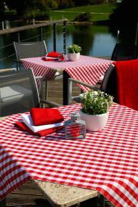 Outdoor-Tischwäsche Karo-Dessin