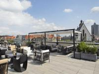 Dachterrasse Bar Cabana des INNSIDE Leipzig