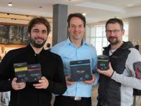 Ein Teil der Macher von Feel Good Coffee: Marcus Berthold, Gregor Sander und Peer Kirmse
