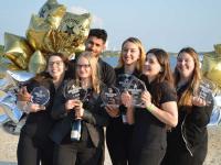 Gewinnerbild von links nach rechts: Carolin Neumann, Sophie Pälchen, Obaidullal Mangal, Malien Nissen, Lia Itiuridze und Franka Kaufmann / Bildquelle: H-Hotels.com