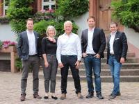 Von links Gregor Erhard, Allison Kraft, Ernest Kraft, Daniel Stern, Johannes F. Groebler / Foto: Sarah Lutz