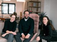 WisR-Gründer v.l.n.r.: Klaudia Bachinger, Martin Melcher, Carina Roth / Fotocredit: WisR GmbH, Timar Batis