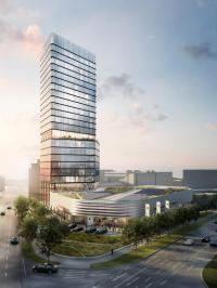 Rendering vom Radisson Blu Hotel im Porsche Design Tower Stuttgart / Bildquelle: Radisson Hotel Group