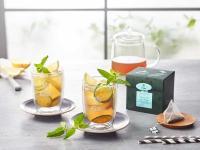 Grüner Tee mit Minze und Gurke